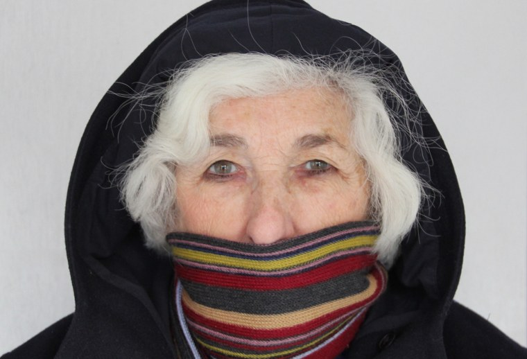 Joan Crawford of Ringwood, N.J., bundles up against winter to prevent triggering her allergy to cold. Disease experts say they've found new clues to the genetic basis of cold allergy and related disorders in three families.