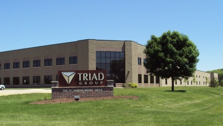 The industrial plant that houses the Triad Group of Hartland, Wis., is for sale for $14.2 million, real estate listings show. The company was closed after problems with contamination and sterility in medical wipes and other products.