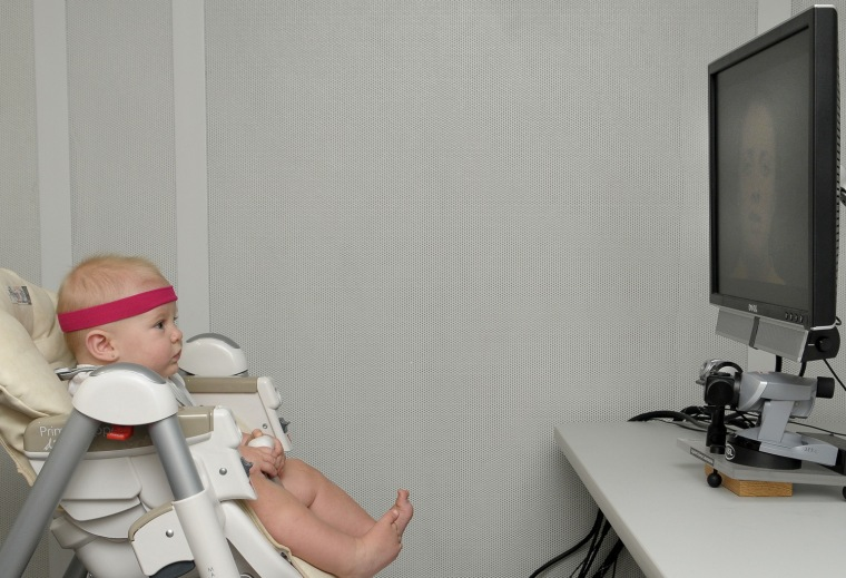On their way to learning to talk, babies, like this one in a study at Florida Atlantic University, become good lip readers, new research shows. That discovery could help doctors detect autism earlier.