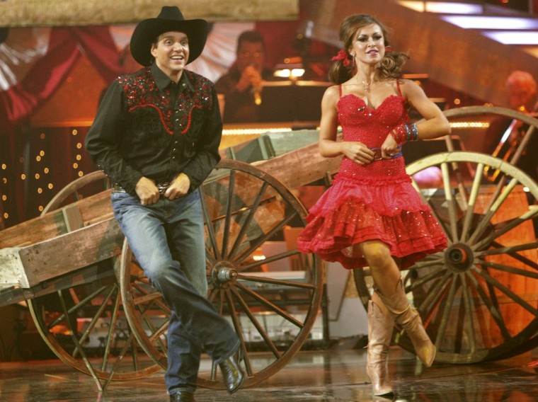 Ralph Macchio and Karina Smirnoff are in synch on Dancing with the Stars.