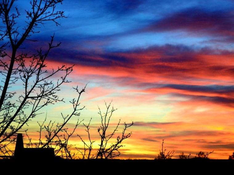 Albuquerque, N.M. at sunset.