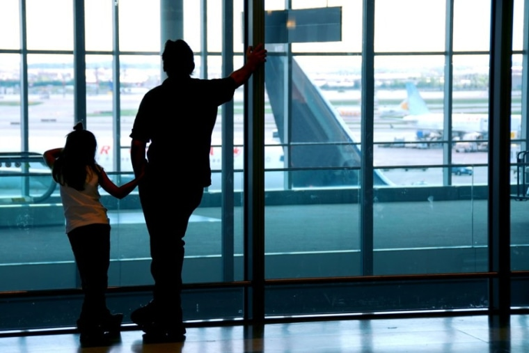 While waiting to board a plane, there's plenty going on to keep kids -- and adults -- occupied. Once on board, however, it's best to have a bag full of things to keep busy.
