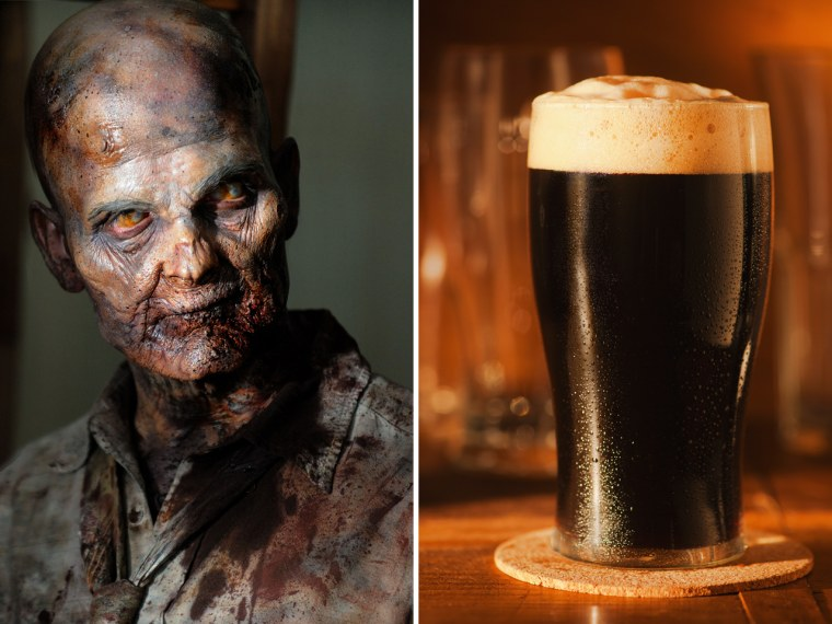 No need to be an angry zombie. Watch your favorite undeads with a nice, cold brew.