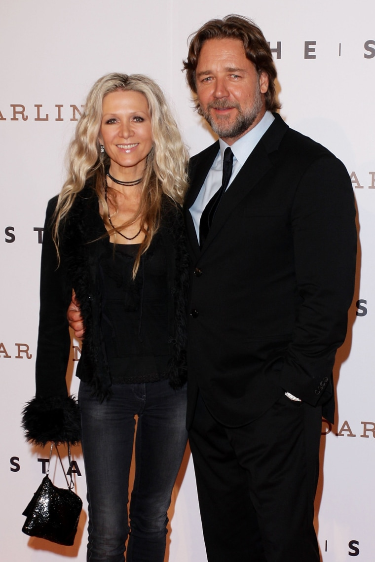 Danielle Spencer and Russell Crowe in 2011.