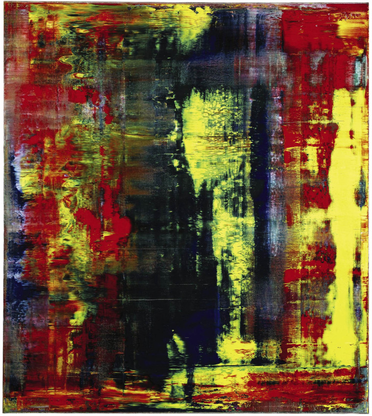 "Gerhard Richter's ""Abstraktes Bild (809-4),"" from the collection of musician Eric Clapton."
