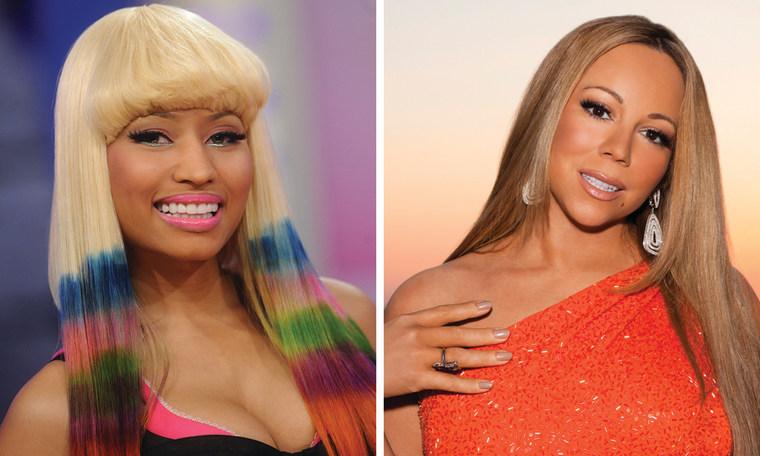 Nicki Minaj, left, and Mariah Carey.