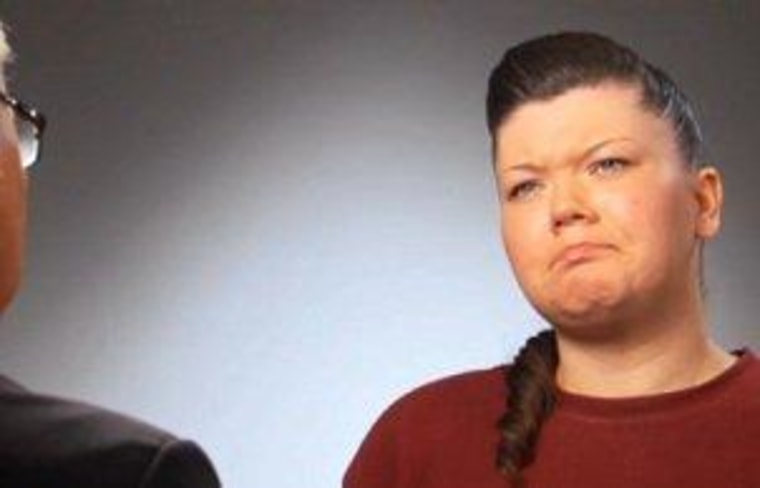 """Amber Portwood, seen here in her recent MTV """"Behind Bars"""" special, will get a new visitor at jail -- her 3-year-old daughter, Leah."""