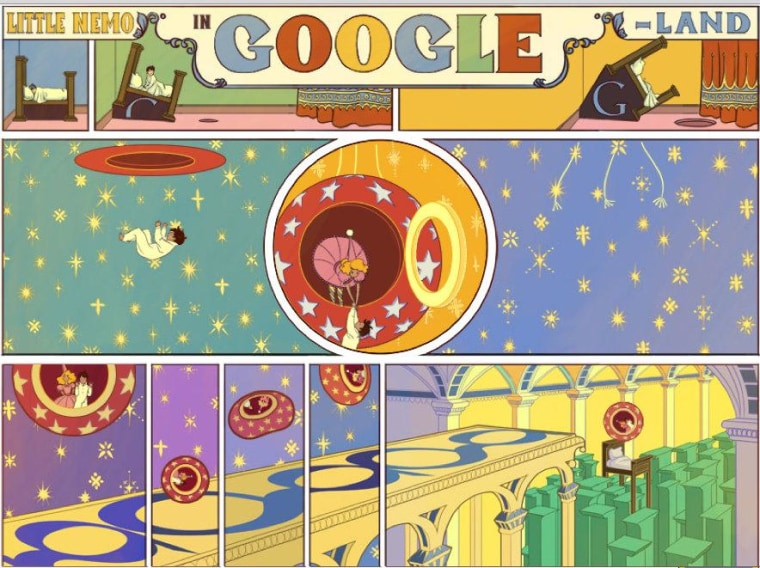 """Little Nemo in Google-Land,"" a beautiful tribute to the work of artist Winsor McCay, and Google's doodle Monday."