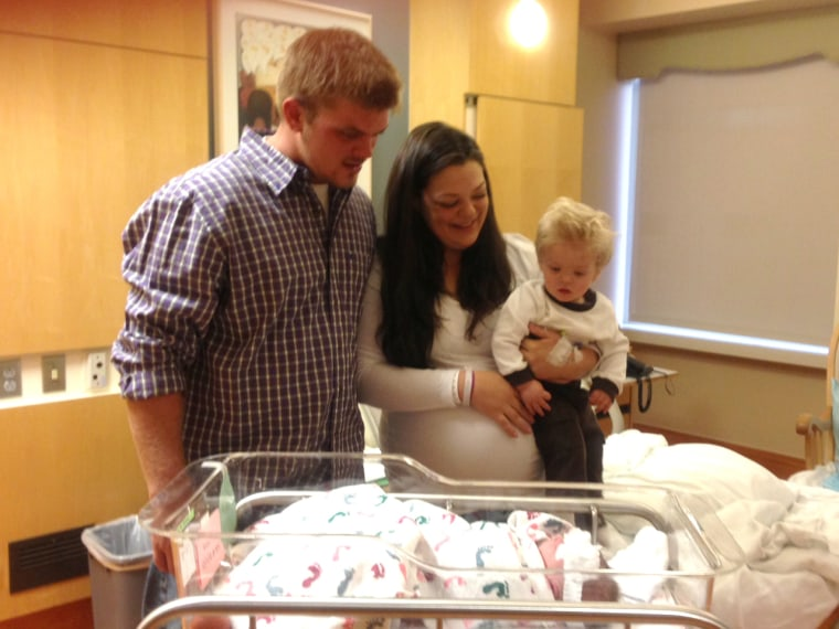 Ryan Fitzgerald and Katie Deremiah are proud parents of Jackson, born 9-10-11, and Laila, born 10-11-12 at 13:14.