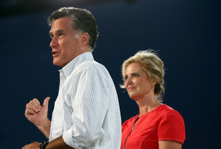 Republican presidential candidate Mitt Romney and his wife Ann.