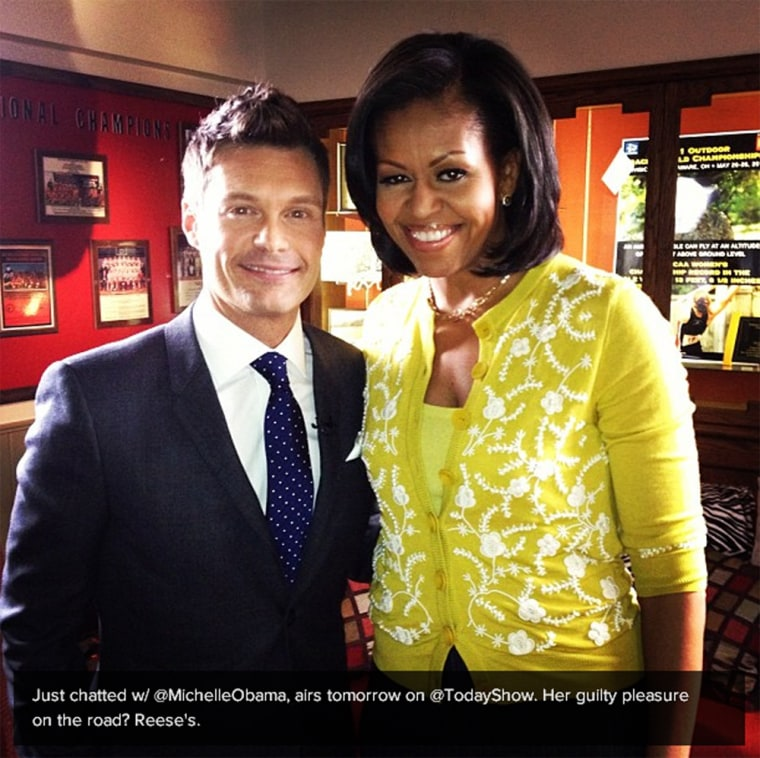 Ryan Seacrest shares a little preview of his interview with Michelle Obama.