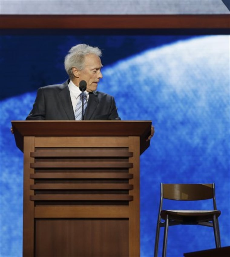 Clint Eastwood at the Republican National Convention.