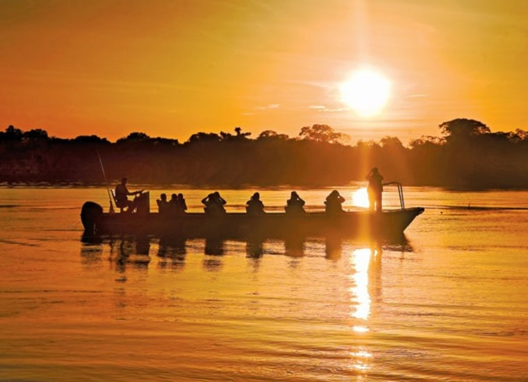 Spot monkeys, macaws and much more from an Amazon River cruise, which provides a touch of comfort as you enjoy seeing the unique flora and fauna of th...