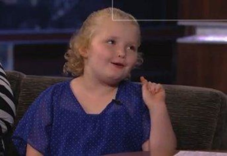 "Alana ""Honey Boo Boo"" Thompson declared her political pick on ""Jimmy Kimmel Live"" Monday night."