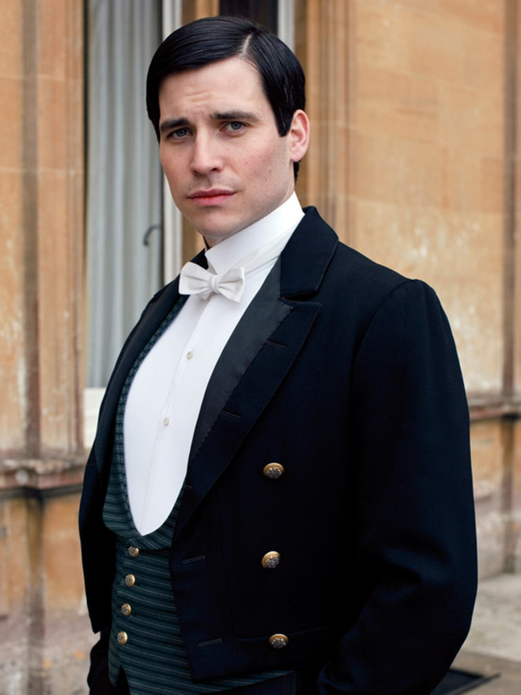 A kiss between Rob James-Collier, who plays Thomas on