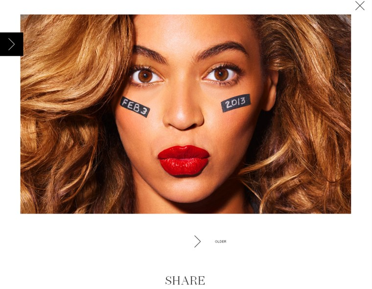 A screengrab of an image on Beyonce's Tumblr page.