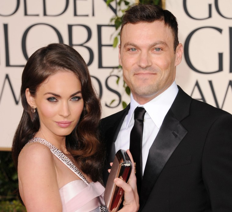 Megan Fox and Brian Austin Green in January 2011.