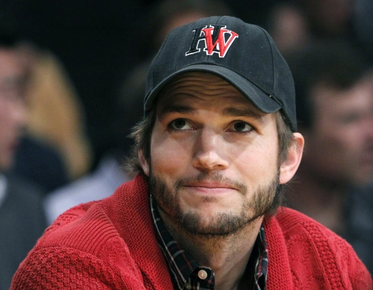 """""""Two and a Half Men"""" star Ashton Kutcher topped the list of Forbes' highest paid TV actors."""