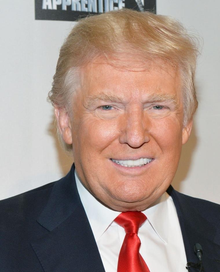 "Donald Trump at \""Celebrity Apprentice All Stars\"" season 13 press conference on Oct. 12 in New York."