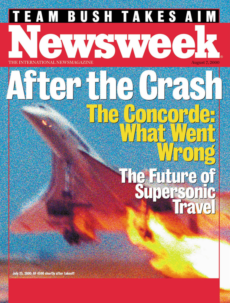 The cover of Newsweek International for the week of August 2, 2000. The venerable magazine, 80 years in publication, will publish its last print edition in the U.S. at the end of the year and go all-digital.