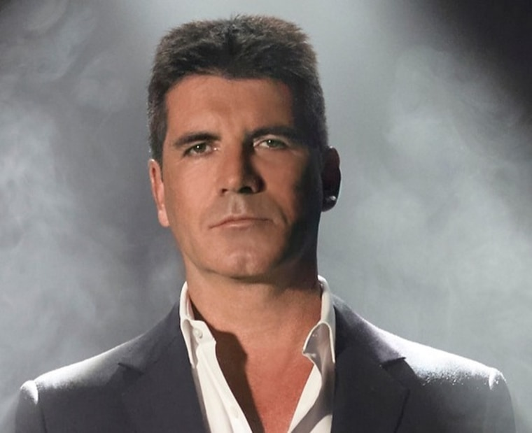 """""""X Factor"""" judge Simon Cowell was not happy that the end of the show was cut off."""