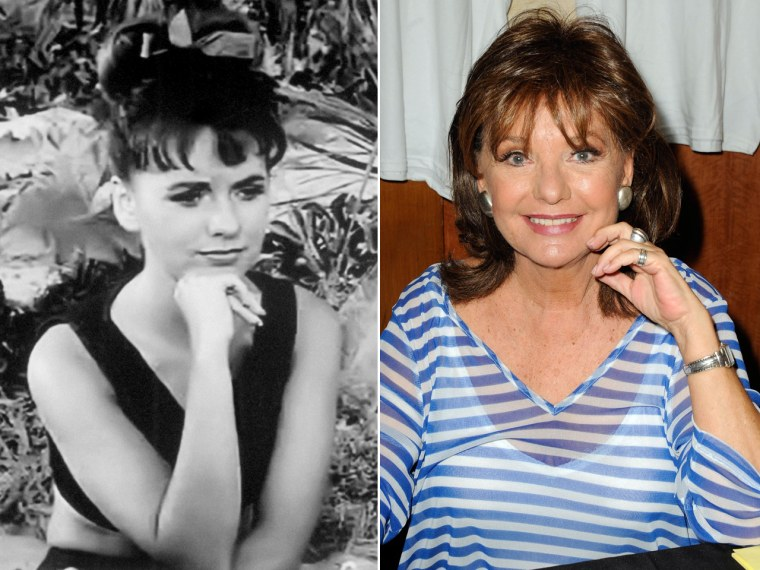 "Dawn Wells on ""Gilligan's Island"" and in a more recent photo. The actress turns 74 today."