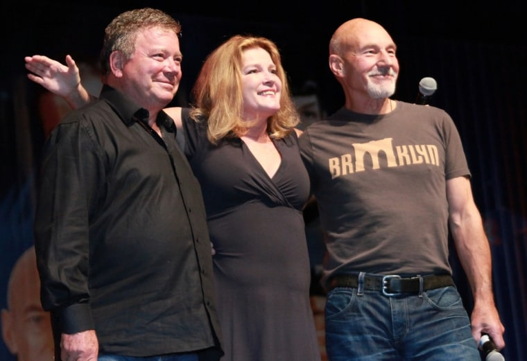 """William Shatner, Kate Mulgrew and Sir Patrick Stewart -- who all played """"Star Trek"""" captains and attended the Las Vegas convention in August -- will reunite this weekend in London along with two other former captains."""