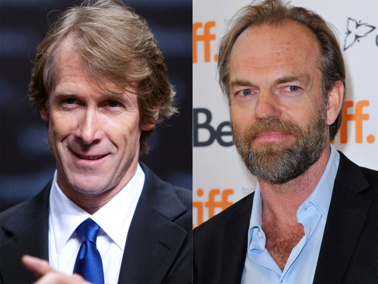 Michael Bay and Hugo Weaving.