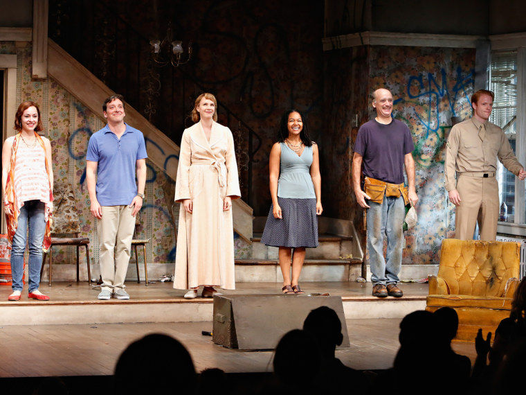 "The cast of ""Clybourne Park's"" Broadway production."
