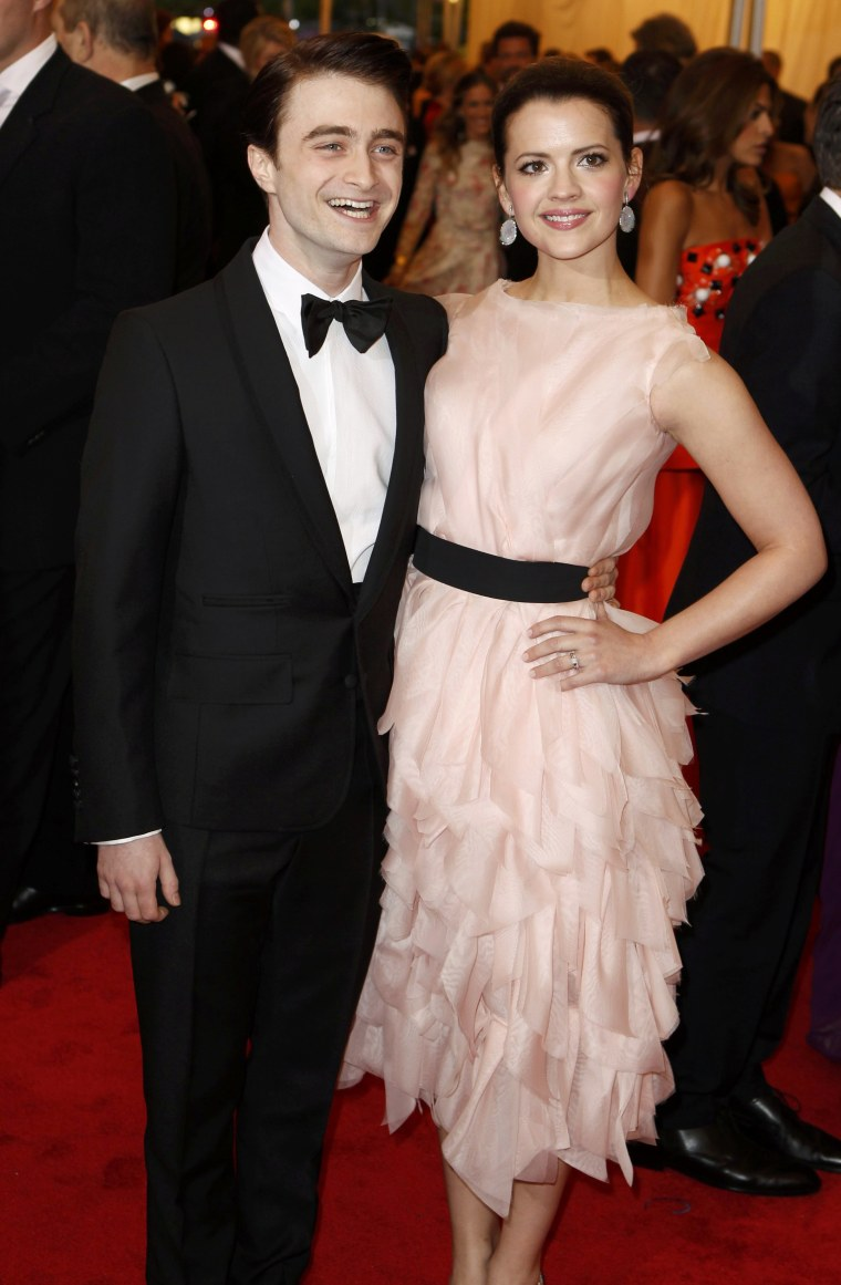Daniel Radcliffe and Rosie Coker in May, 2012.