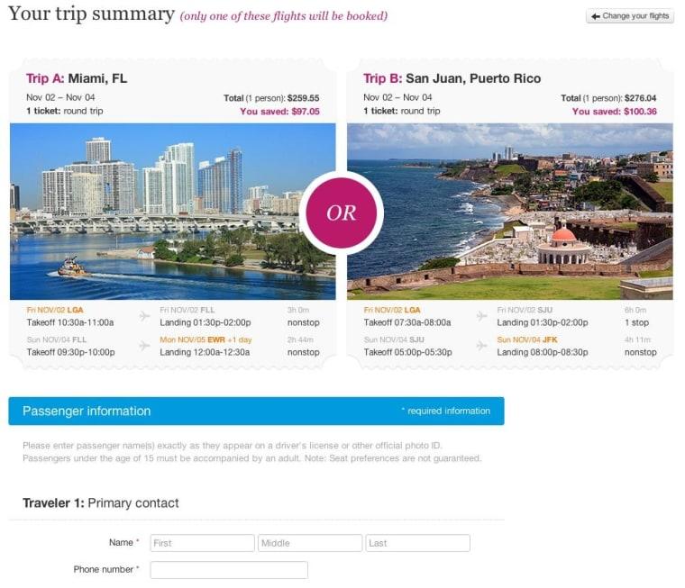 A screenshot of GetGoing.com.