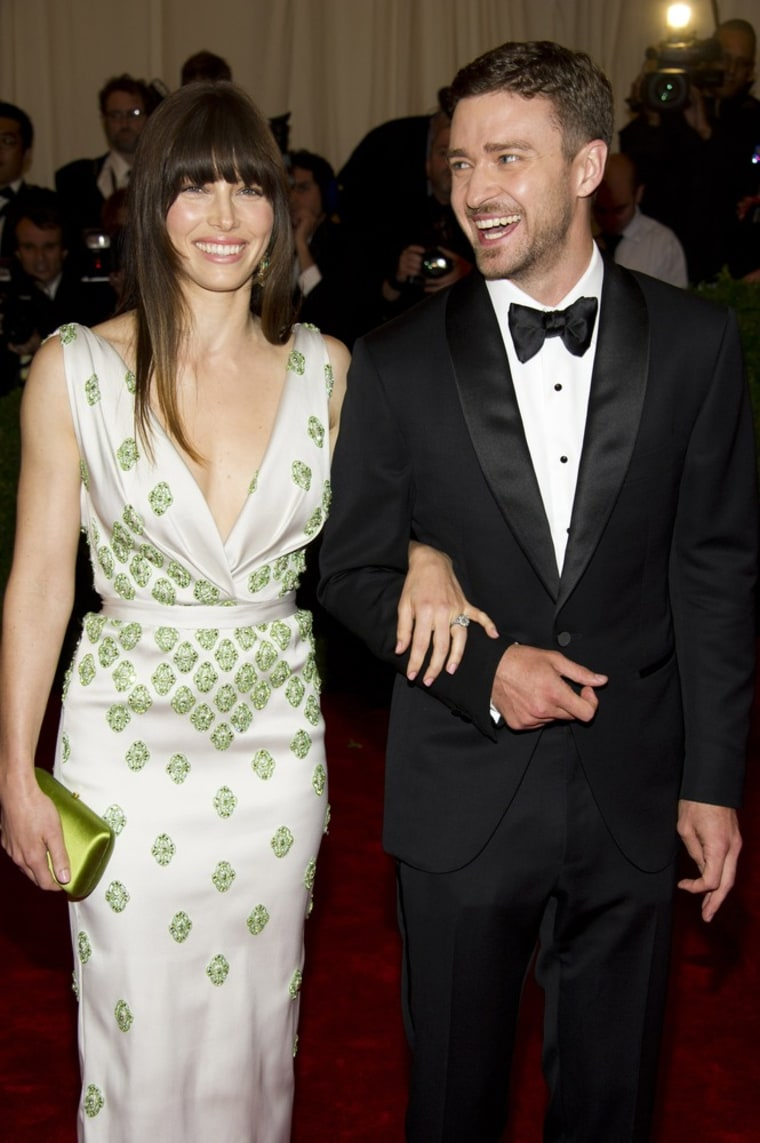 Jessica Biel and Justin Timberlake in May.