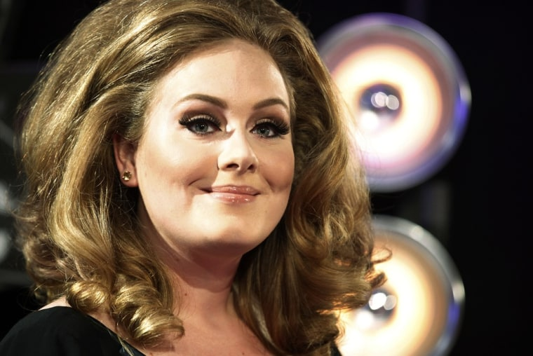 Singer Adele in Los Angeles in August 2011.
