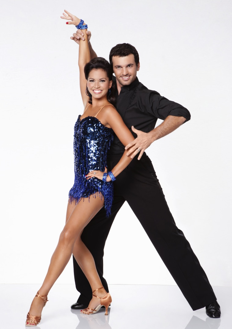 "Melissa Rycroft and \""Dancing With the Stars\"" partner Tony Dovolani."