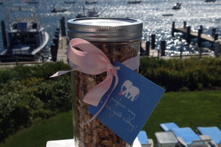 The White Elephant hotel's Brant Point Grill in Nantucket is cooking for a cause with a homemade $10 Shop Pink granola blend adorned with a twirl of p...