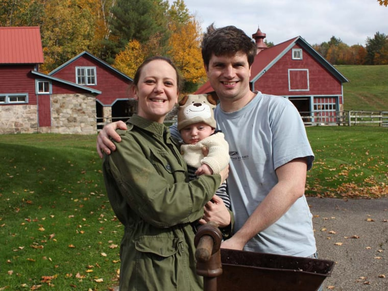 Diana and Matt Lovett of Larchmont, N.Y., rely on organic baby food for their son, Noam, 4 1/2 months, primarily because it contains no pesticides.