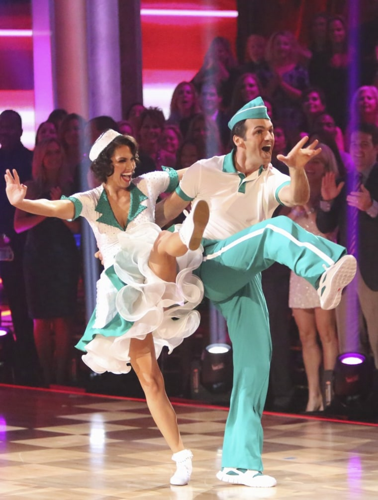 "Melissa Rycroft and pro partner Tony Dovolani on ""Dancing With the Stars."""