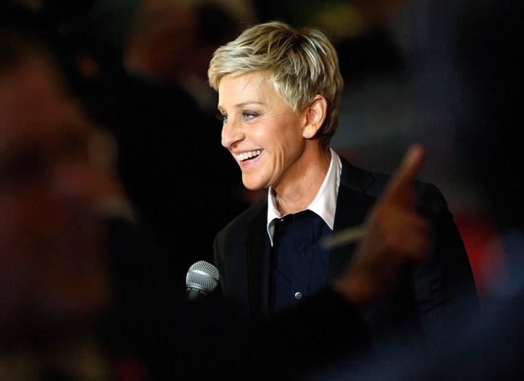 Ellen DeGeneres arrives for the the Mark Twain Prize ceremony in Washington, DC, on Monday.