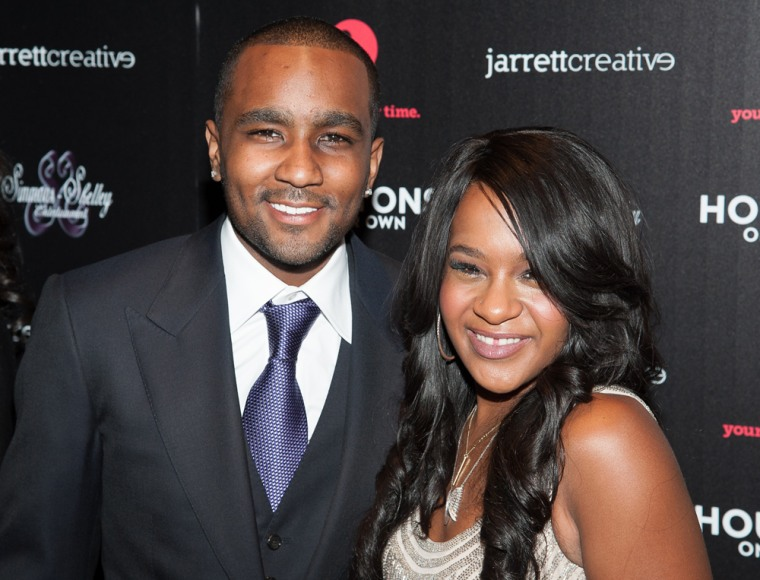 "Bobbi Kristina Brown and Nick Gordon attend ""The Houstons: On Our Own"" series premiere party at Tribeca Grand Hotel in New York on Tuesday."