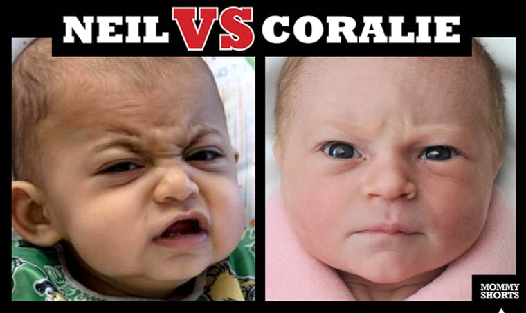 Image: Scary babies face off
