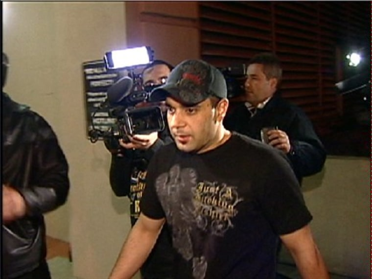 Sam Lutfi leaves UCLA medical center after visiting Britney Spears in Los Angeles in January 2008.