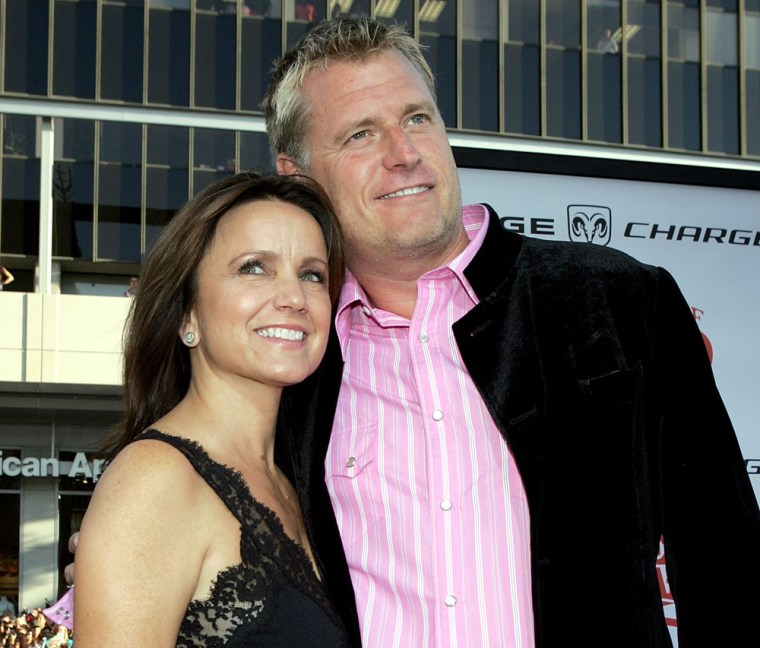 Tina and Joe Simpson in Hollywood in July 2005.