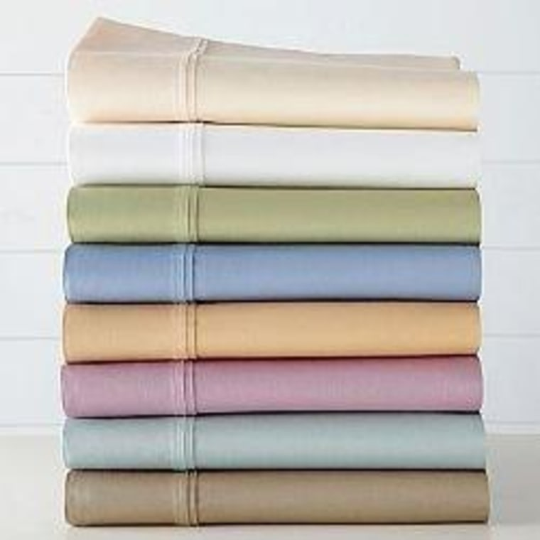 Royal Velvet Pure Perfection sheets have deep pockets and elastic all around, so they stay put on pillow-top mattresses.