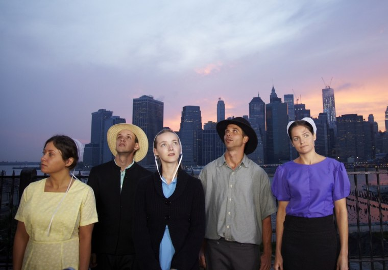 """Sabrina, Abe, Rebecca, Jeremiah and Kate from TLC's \""""Breaking Amish.\"""""""