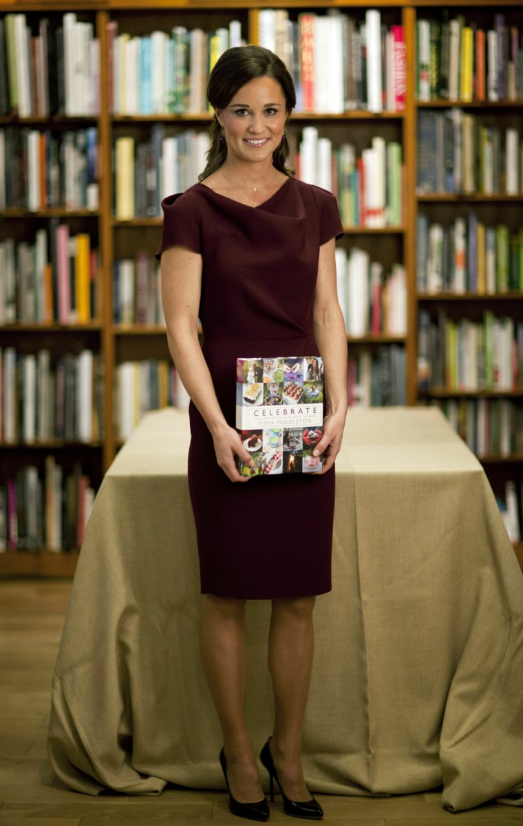 For an afternoon children's party at Daunt Books on London's Fulham Road, Pippa arrived wearing this Roksanda Ilincic dress in trendy plum.
