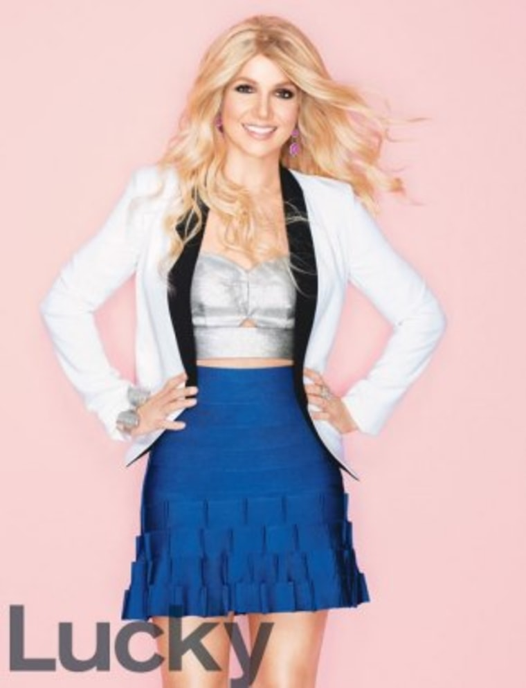 But hey, the clothing is still cute: Britney Spears poses for Lucky magazine.