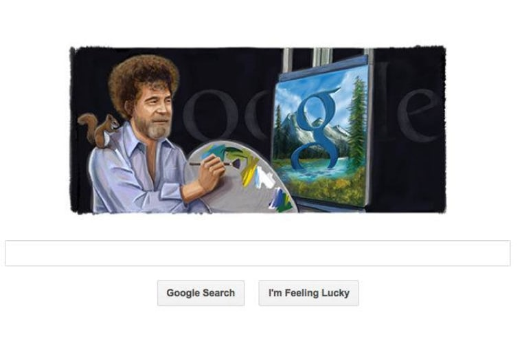 Google honors painter Bob Ross by featuring him on its search page. Oct. 29 was his birthday, and he would have been 70 this year.