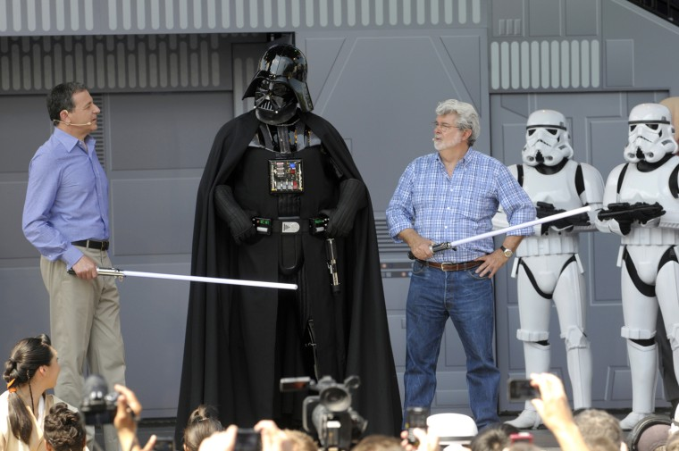 Disney CEO Robert Iger, left, and
