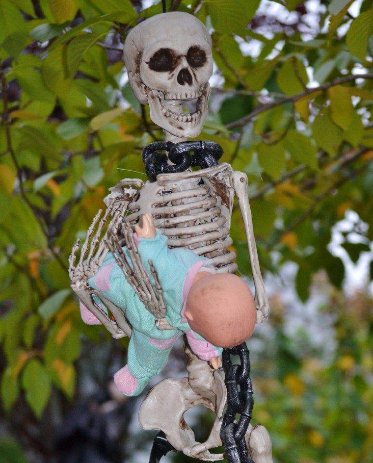 Are adults making Halloween too scary for kids with displays like this one?