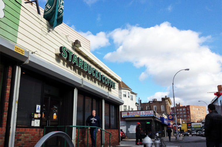 A steady drip of customers made their pilgrimage to a Starbucks a in the Flatbush area of Brooklyn on Wednesday morning.